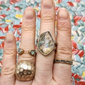Vintage mystery Bundle 4 rings gypsy stacked daint
